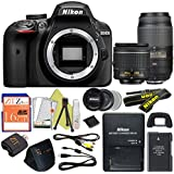 Nikon D3400 24.2 MP Digital SLR Camera (18-55mm & 55-300mm, Certified Refurbished)