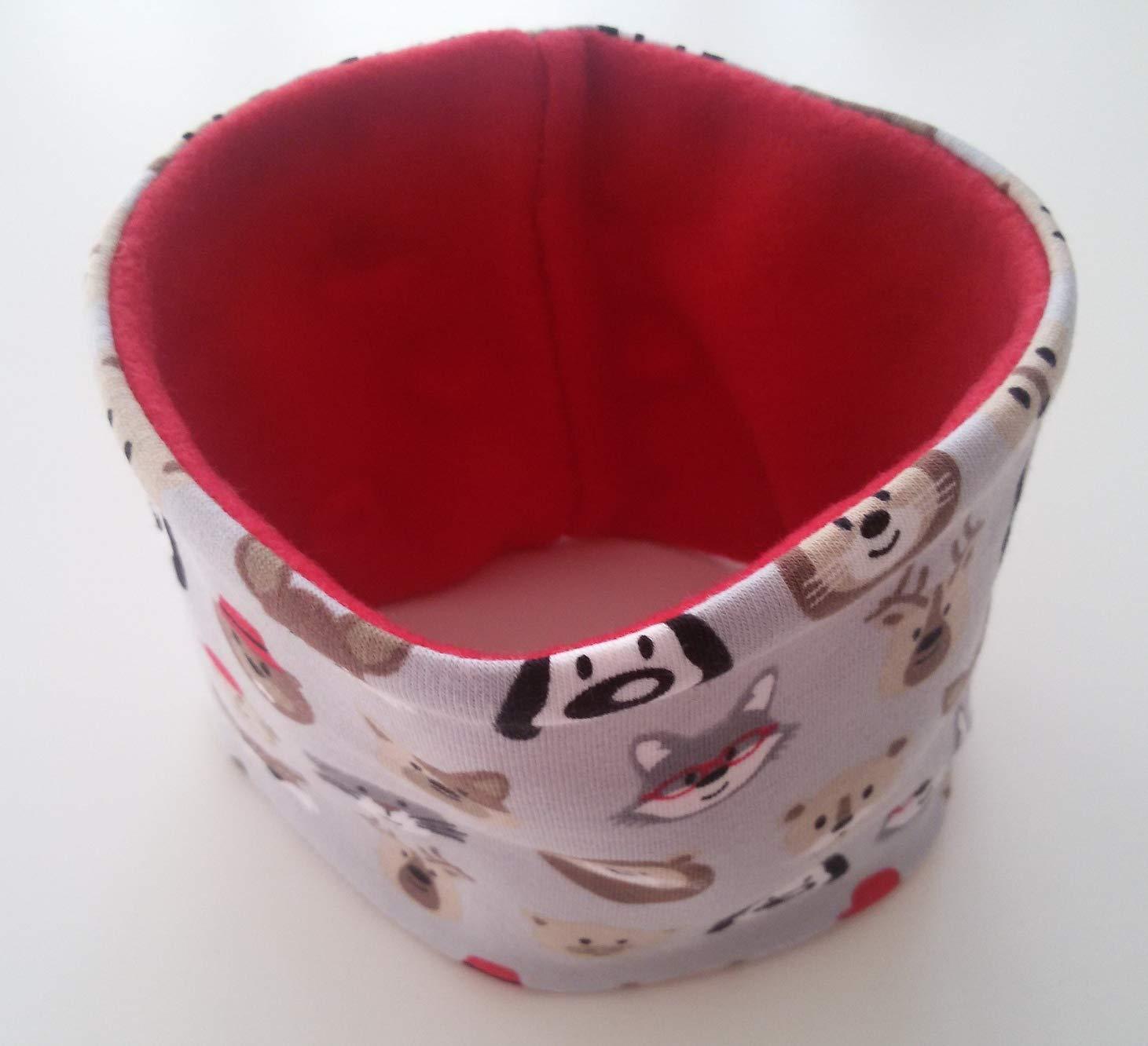 Hundeloop Loop Schal grau Tiere Handarbeit Handmade