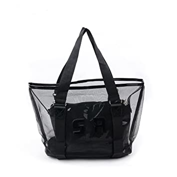 31175c74bf15 Yiuswoy Personality Large Capacity PVC Beach Bags Transparent Shoulder Bag  Handbags Clear Tote Bags With Interior