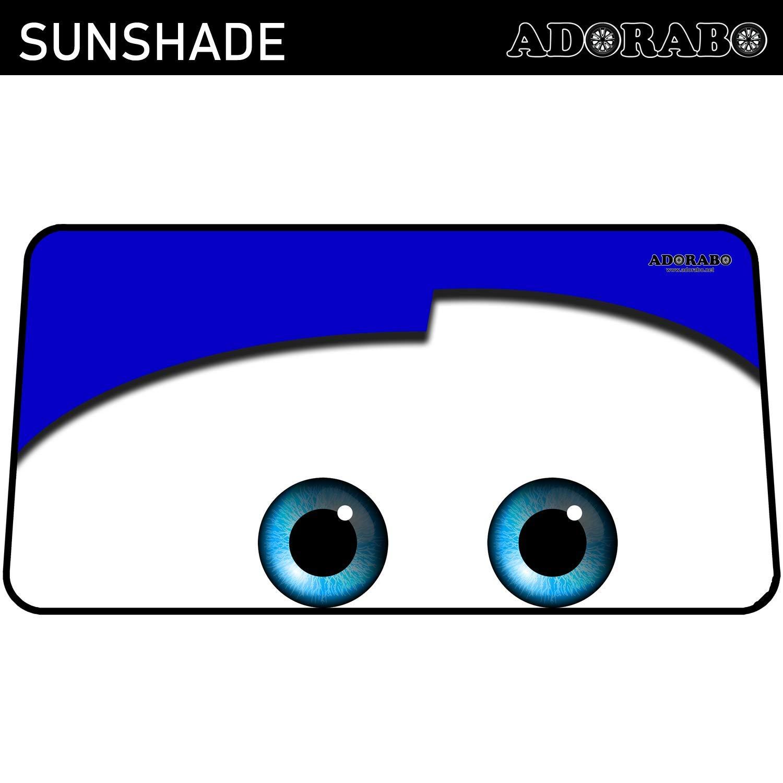 Azul ADORABO Parasol para Parabrisas de Coche Ojos De Dibujos Animados