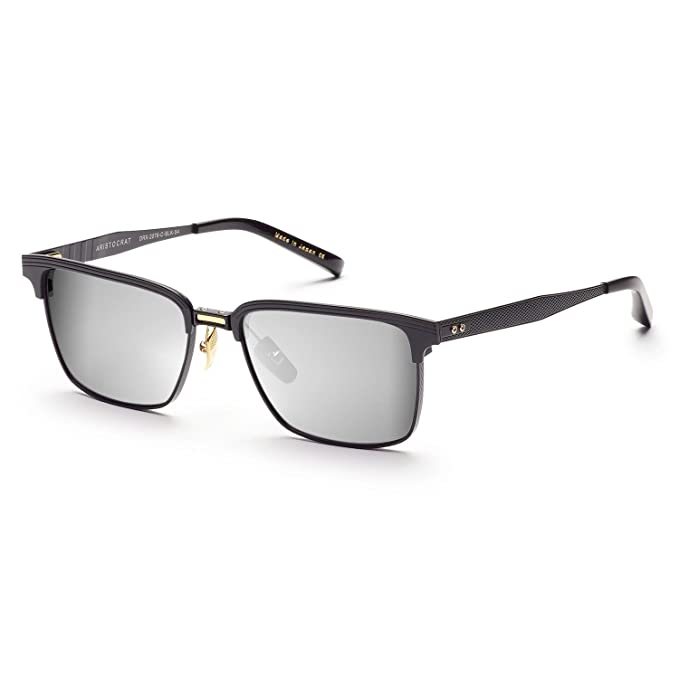 b44a2e085ed Dita Aristocrat Sunglasses DRX 2076C Matte Black Gold Screws Grey Black  Flash AR  Dita  Amazon.ca  Clothing   Accessories
