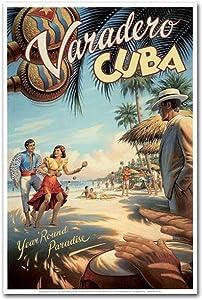 "Varadero Cuba Travel Vintage Art Refrigerator Magnet Size 2.5"" x 3.7"""