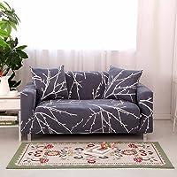LINGJUN Flexible Housses de Canapé Imprimé Dessin avec Accoudoirs Décoration Protecteur et Couverture de Sofa 1 2 3 4 Places Élastique