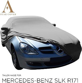 Autoabdeckung Grau Passend FÜr Mercedes Benz Slk Class R171 Mit Spiegeltaschen Ganzgarage Innen SchutzhÜlle Abdeckplane Schutzdecke Cover Auto