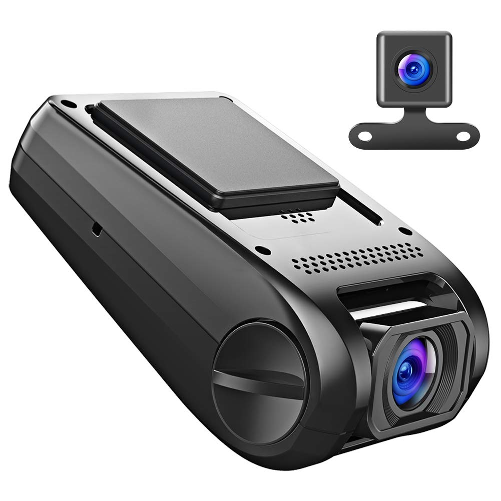 【Updated Version】APEMAN Car Camera Dash Cam GPS Dual Lens Full HD 1080P 170° Wide Angle Lens With G-sensor, WDR, Loop Recording, Motion Detection,Parking Monitoring C550A