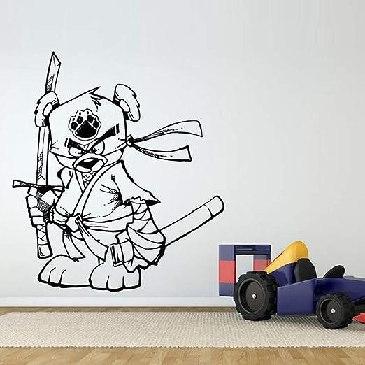 pegatina de pared 3d Funny Ninja Samurai Bear pegatinas de ...