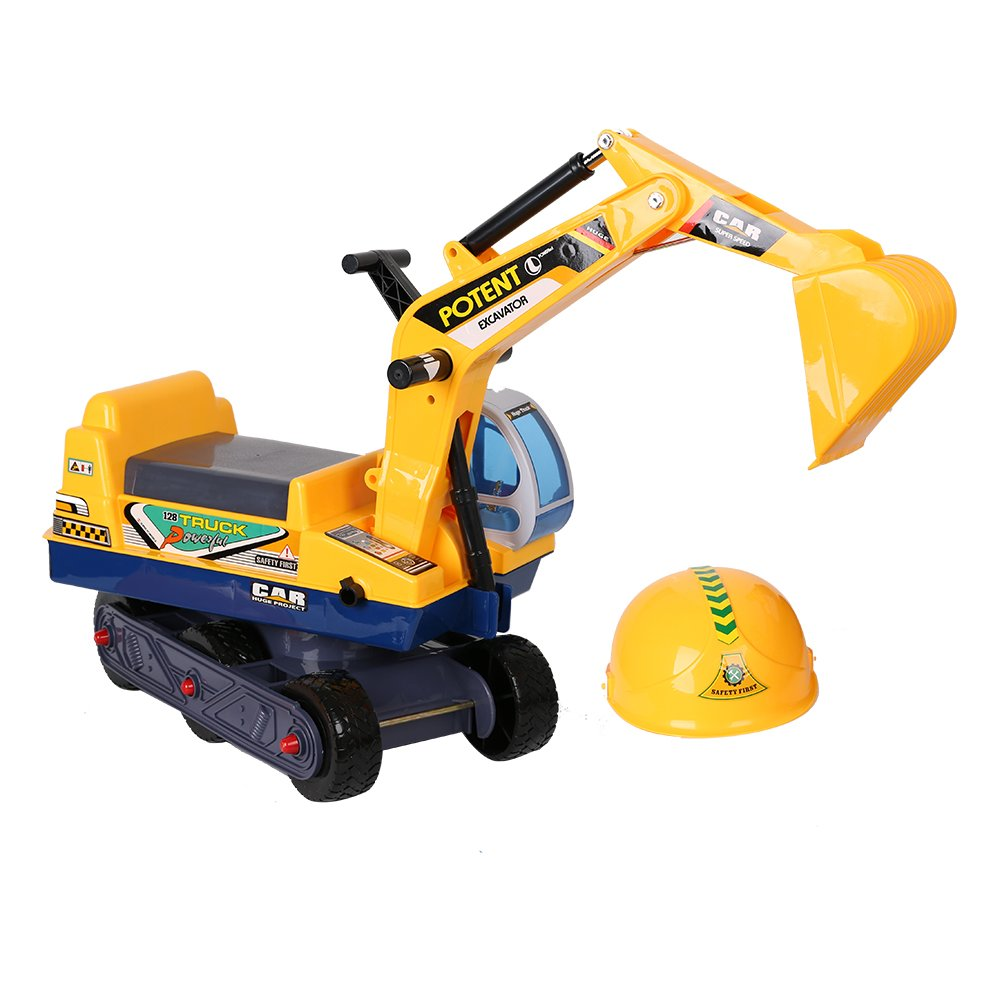COLORTREE Ride-on Excavator Pretend Play Construction Truck