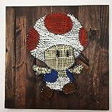 Toad Mario Gaming Minimalist String Art