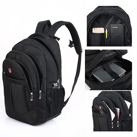 Amazon.com | DeLamode Men Swiss Army knife Notebook Backpack Double Shoulder Travel Student Bag Black-17 | Casual Daypacks
