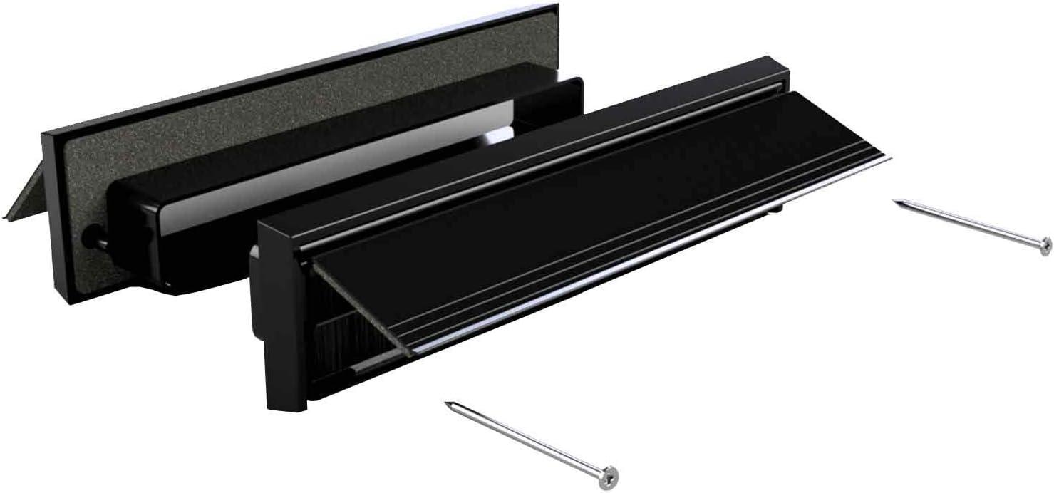 Stormguard Internal /& External Sleeved Letterbox Plate Cover Set UPVC or Wooden Doors Aluminium