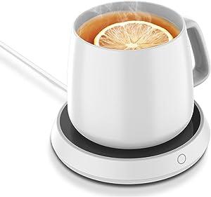 Coffee Warmer&Coffee Mug warmer for Desk, 3 Temperature Setting Cup Warmer for Warming & Heating Coffee, Tea, Hot Cocoa,Auto On Off Gravity-Induction Mug