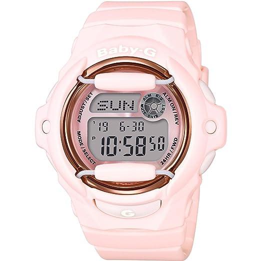 Casio Reloj Digital para Mujer de Cuarzo con Correa en Resina BG-169G-4BER: Amazon.es: Relojes