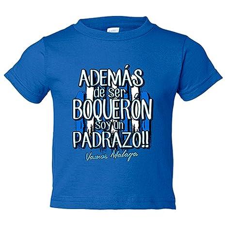 Camiseta niño además de ser Boquerón soy un padrazo Málaga ...
