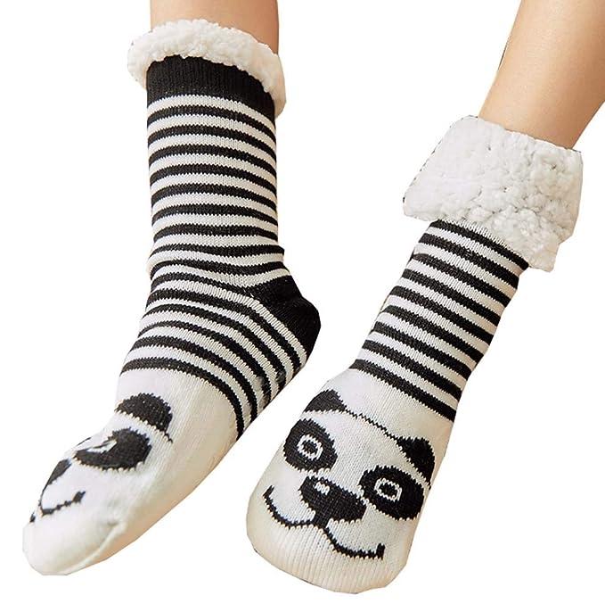 Calcetines de piso para espesar, calcetines de lana para el hogar, calcetines cálidos de