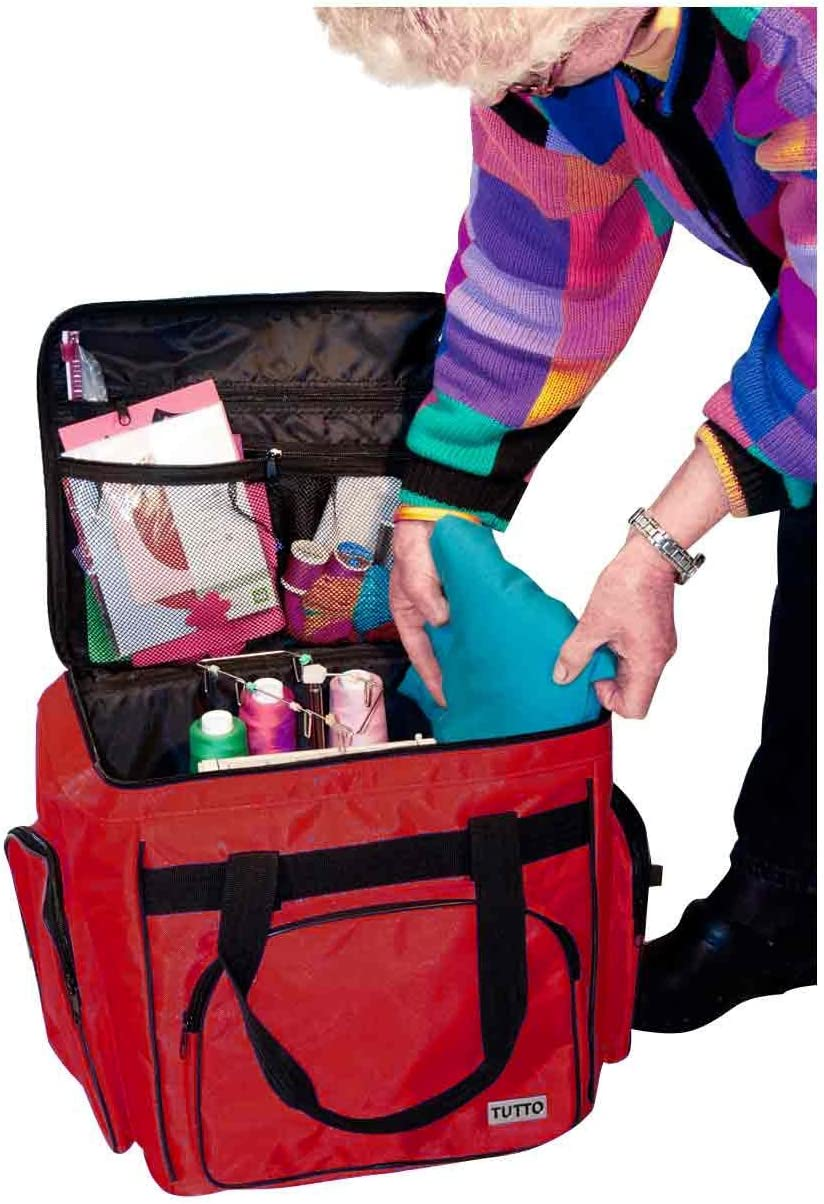 Tutto 1214CSG Red Serger/Accessory Bag