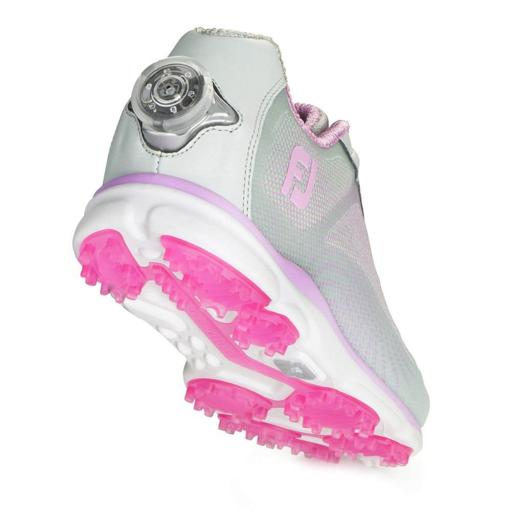 FootJoy EmPower BOA Golf Shoes CLOSEOUT Women B01I5PMRCK 8.5 M US|Silver/Lilac, Silver