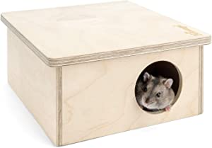 Niteangel Hamster Birch Chamber Hideout - Small Pets Woodland House Habitats Decor for Hamster Mice Gerbils Mouse