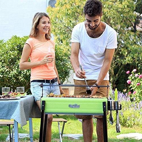 Barbecue HZY Extérieur au Charbon Inoxydable Kebab en Acier, Convient for Jardin, Camping, Plage, Fête 82 * 68 * 43cm