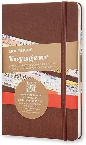 "Moleskine Voyageur Notebook, Hard Cover, Medium (4.5"" x 7"") Nutmeg Brown"