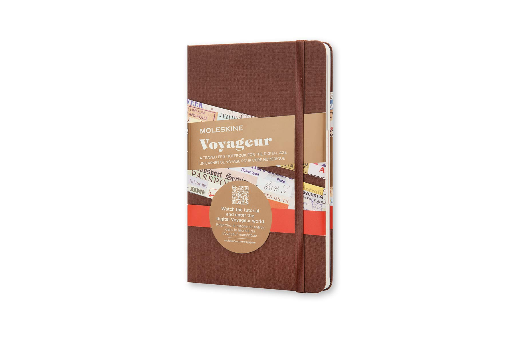 Moleskine Voyageur Notebook, Hard Cover, Medium (4.5'' x 7'') Nutmeg Brown