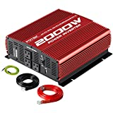 POTEK 2000W Power Inverter 12V DC to 110V AC Car Inverter with 3 AC Ports and USB Port