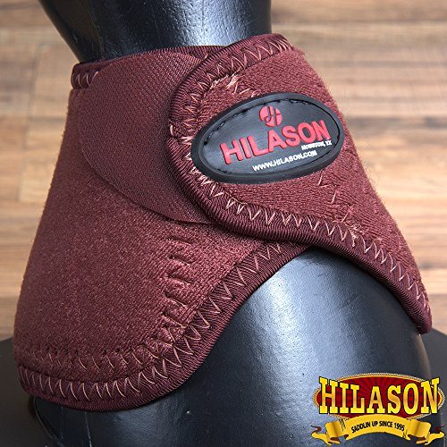 (HILASON U Western Horse Leg Protection NO Turn Bell Boots Pair)