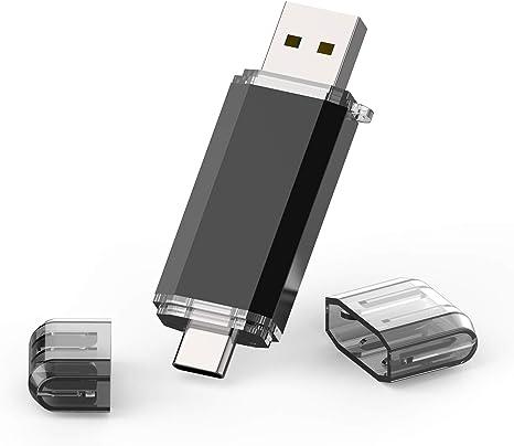 Memoria USB Tipo C 128GB, TOPESEL Pendrive USB C 3.0 OTG USB Stick 2 en 1 Dual Flash Drive para Móviles/MacBook/Google Chromebook Pixel/Samsung Galaxy/Huawei, Negro: Amazon.es: Informática
