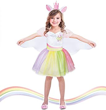 Disfraz de unicornio tutú para niñas con alas de hada mágicas ...