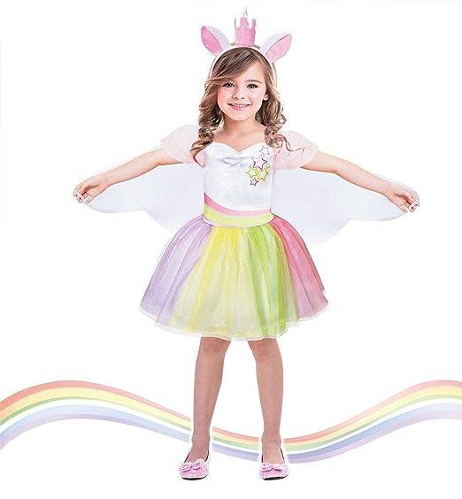 Disfraz de unicornio tutú para niñas con alas de hada ...