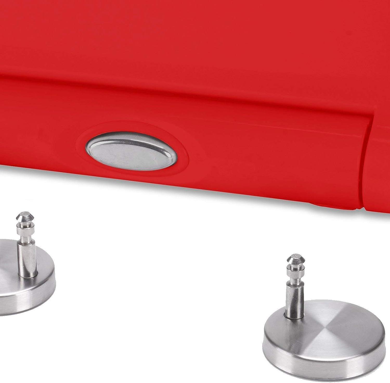 30 x 20 x 15 cm MSV 140649 Abattant WC en Duroplast avec softclose Rouge Amovible multicolor/é Acier Inoxydable