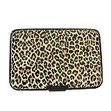 Designer Safe Aluminum Hard Case Slim Travel Wallet with RFID Blocking for Women Men Teens (Small Leopard - L03)