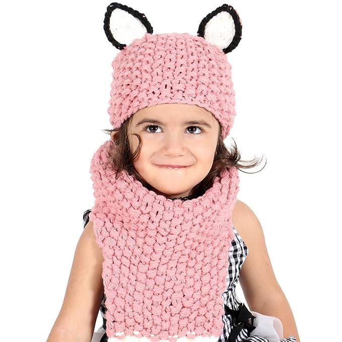 500008d2711 Tacobear Otoño Invierno Tejidos Animal Sombreros Bufandas Chales Cofia Capucha  Gorra Knit Bufanda con un Sombrero