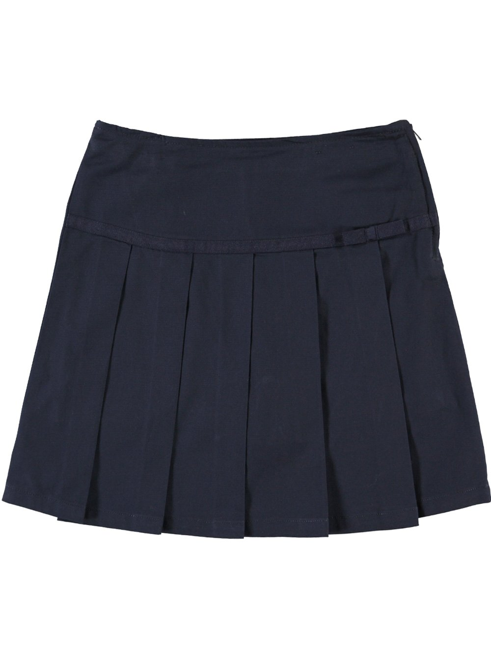 French Toast School Uniform Girls Pleated Scooter with Grosgrain Ribbon, Navy, 7