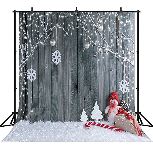 DePhoto 10x10Ft Seamless Christmas Theme Vinyl Photography Backdrop