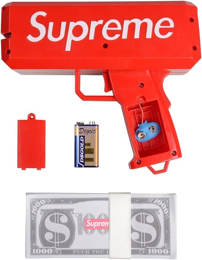webeauty Pistole Giocattoli Spray Money Gun Giocattoli Sportivi Esterni, Spray Soldi Pistola Giocattoli Pistola per i Tuoi Figli o Amici Giochi