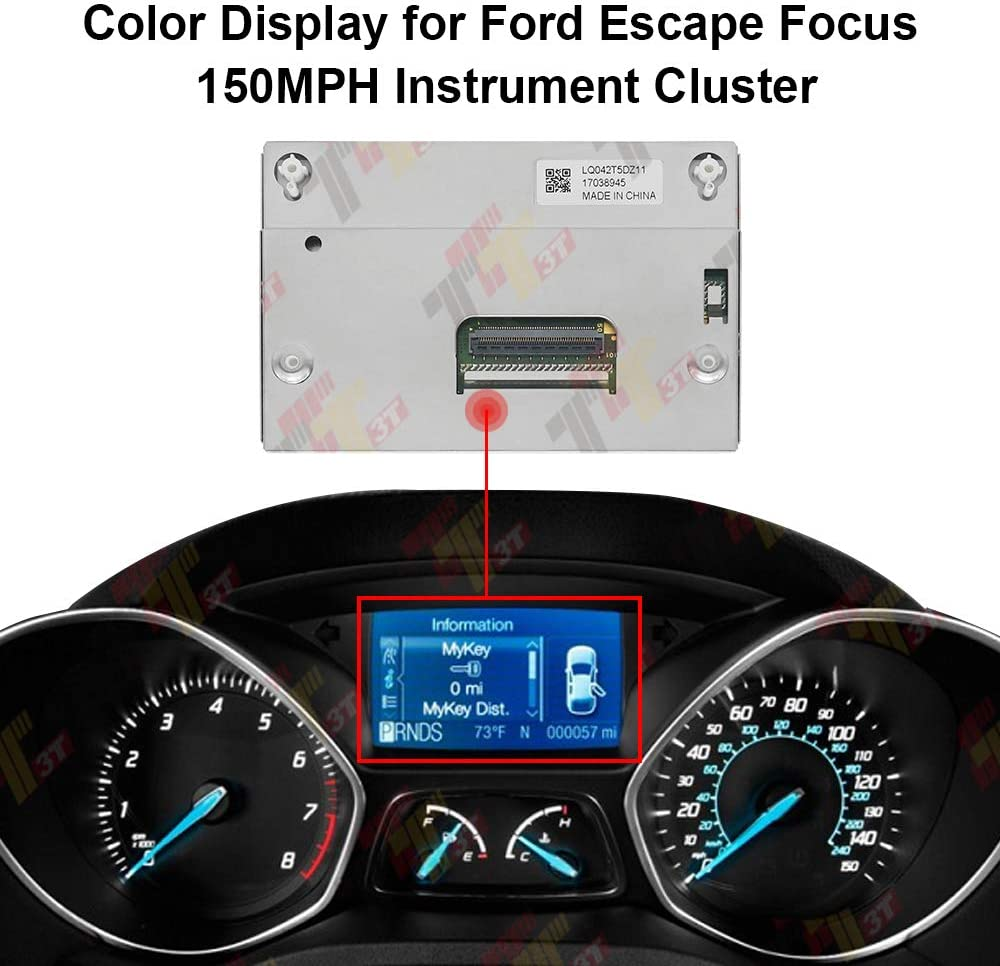 Color Display for Ford Escape Focus 150MPH Speedometer Instrument LQ042T5DZ11