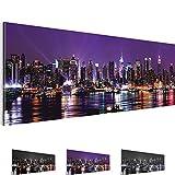 Bilder !!! SENSATIONSPREIS !!! Bild 110 x 40 cm - New York NY Wandbild - 3 Farben zur Auswahl - XXL Format - Fertig Aufgespannt - TOP Vlies Leinwand - Kunstdruck !!! 100 % MADE IN GERMANY !!! 601911b