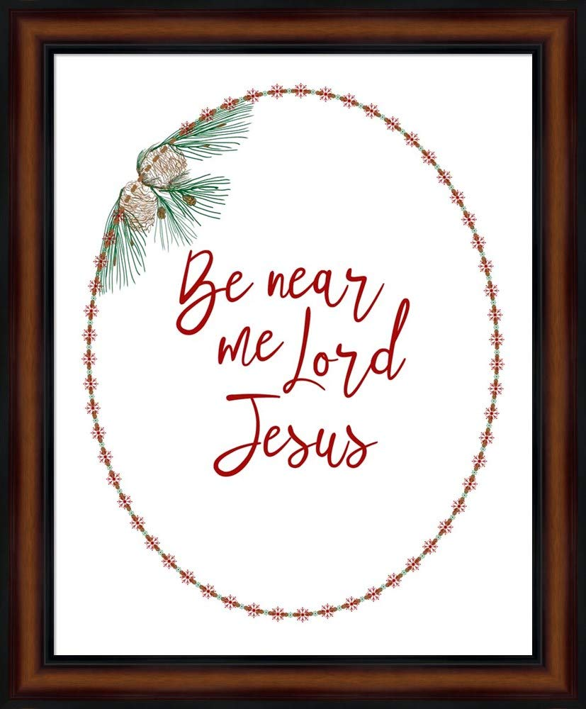Be Near Me Lord Jesus by Ramona Murdock Fine Art Print with Wood Box Frame and Glass Cover, 19 x 23 inches