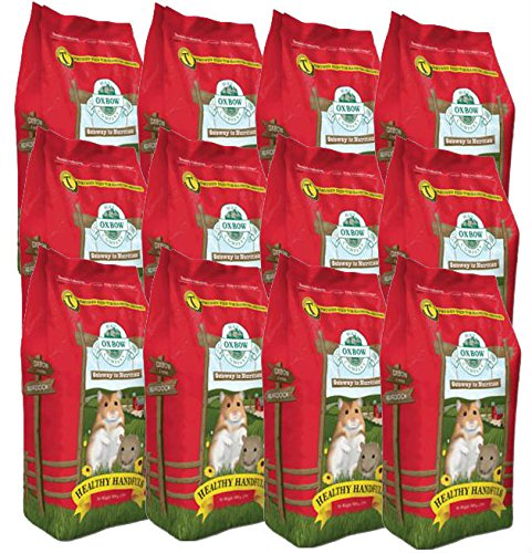 Oxbow HEALTHY HANDFULS Hamster and Gerbil Complete Stabilized Food 1 lb 12 PACK