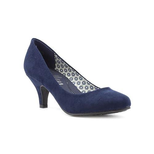Lilley - Zapato de salón con tacón Alto, de Gamuza sintética, Azul Marino,