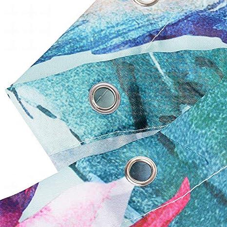 180 Litthing Shower Curtain Waterproof Polyester Mildew Resistant Thick Polyester Shower Curtain 3D Digital Printed Large Version Size 180 Lemon