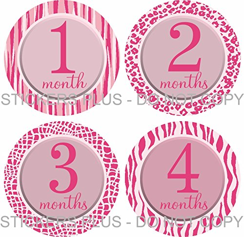 picture about Baby Month Stickers Printable titled : Boy or girl Lady Thirty day period Stickers Month to month Kid Milestone
