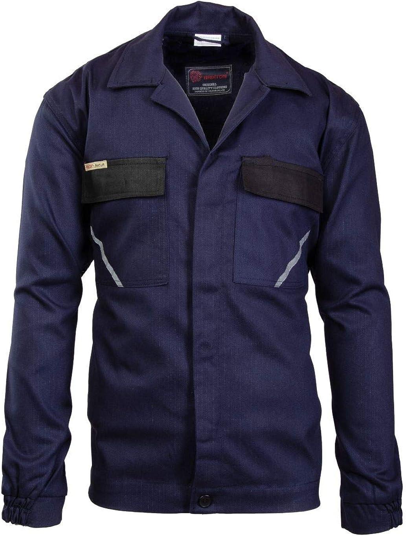 Berufsjacke,KFZ Montagejacke Brixton Natur Arbeitsjacke Schutzjacke Baumwolle dunkelblau