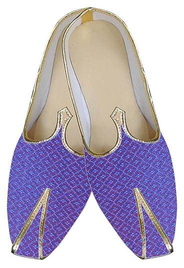 Mens Blue Traditional Wedding Shoe MJ0010