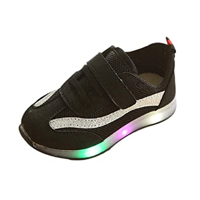 Zapatillas Luces Niña, ❤ Zolimx Niños LED Luz Zapatillas de Moda Luminous Child Casual Zapatillas Unisex Niño Botas Niño: Amazon.es: Zapatos y ...