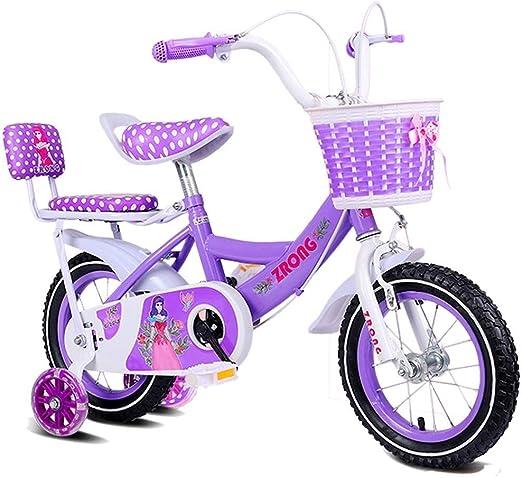 MDYMX Bicicleta para niños Princesa Estudiante Bicicleta niña ...