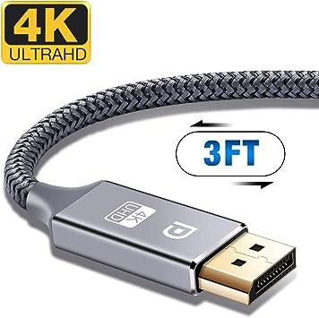 4K@60Hz, 1440P@144Hz Displ Displayport Cable,Capshi 4K Dp Cable Nylon Braided
