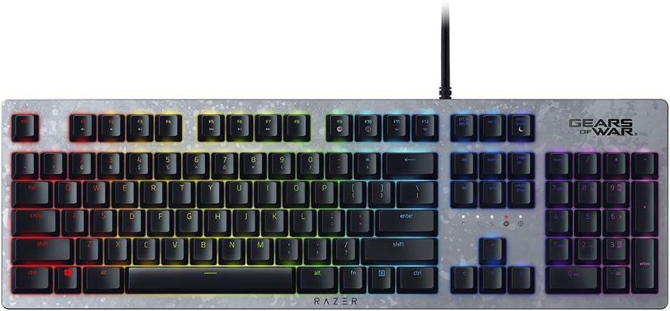 Razer Huntsman Gears of War 5 Edition - Teclado con teclas opto-mecánicas actuación óptica, barra estabilizadora de teclas, Synapse 3 - US Layout - ...