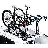 RockBros Roof-top Bike Rack Car Bike Fork with Rear Strap Suction Cup Bike racks Install Carrier Easy Car Roof Rack