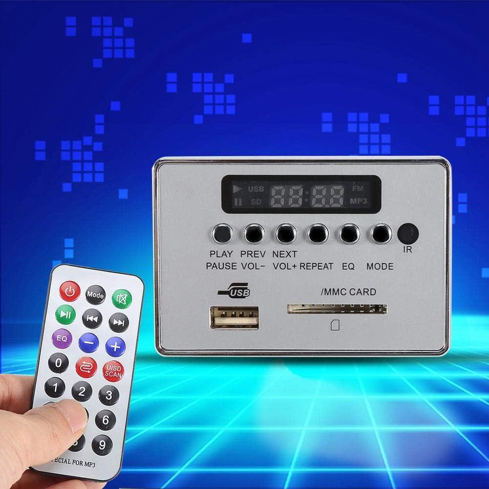 Mp3 Modul Usb Bluetooth Dc12v Bluetooth Audio Decoder Board Modul Audio Usb Sd Tf Fm Radio Decoder Wma Wav Mp3 Ohne Funkverlust Mit Fernbedienung Schwarz Auto